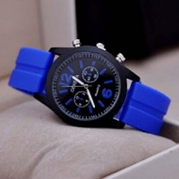 Geneva 9805 Silicone Unisex Wrist Watches - Blue