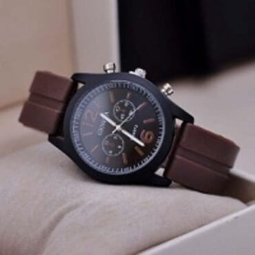 Geneva 9805 Silicone Unisex Wrist Watches - Brown