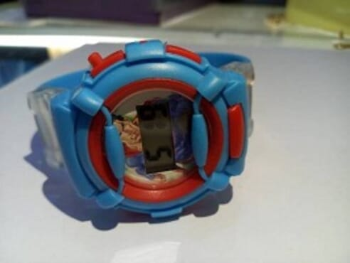 KID CARTOON BLUE WRIST WATCH