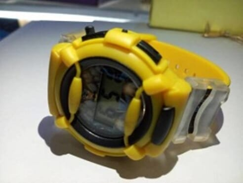 KID CARTOON YELLOW WRIST WATCH