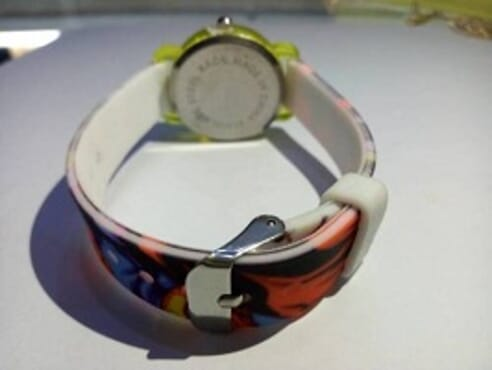 KID CARTOON MULTICOLOR SILICON WRIST WATCH