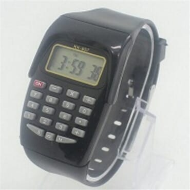 KID CALCULATOR BLACK SILICONE STRAP WATCH