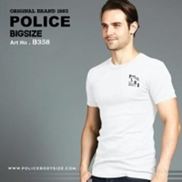 POLICE B.358 LARGE WHITE PRINTED SHORT SLEEVE T-SHIRT