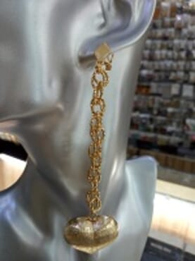 0004 GOLD FASHION LONG EARRING