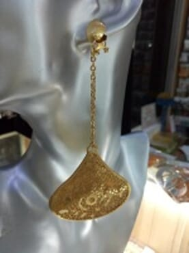 0016 GOLD FASHION LONG EARRING