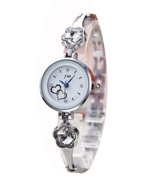 JW Studded Wrist Watch - Silver
