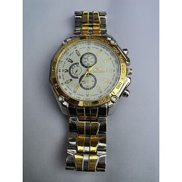 ORLANDO Special Offer Steel Band Three Eyes Men's Watch center gold band Business Watch