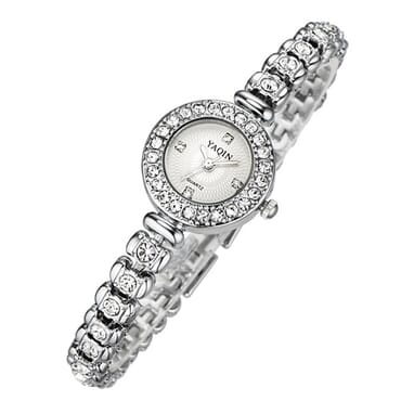 Yaqin 7054 Ladies' Elegant Waterproof Wrist Watch - Silver