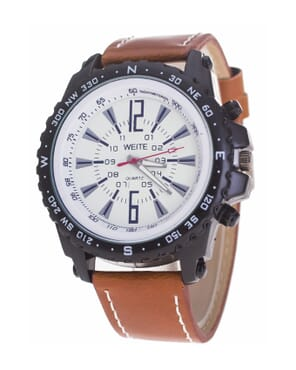WEITE Fashion Sports Leather Watch-Light Brown