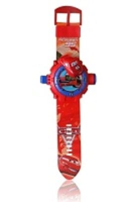 CARS RED KID CARTOON SILICONE WATCH