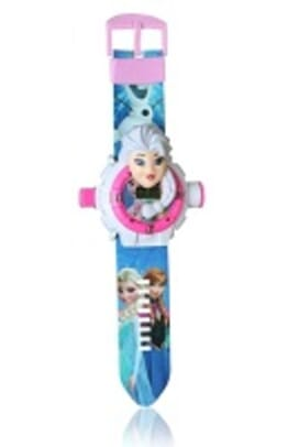 PROJECTION PINK/BLUE KID CARTOON SILICONE WATCH