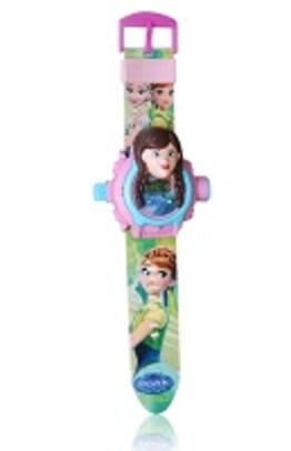 FROZEN FEVER PINK KID CARTOON SILICONE WATCH