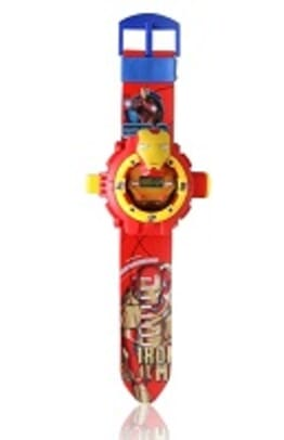 IRON MAN RED KID CARTOON SILICONE WATCH