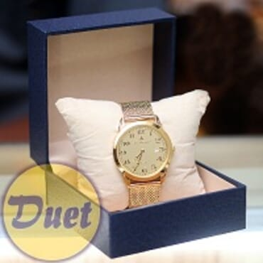 BOX St ALEXANDER SA130 FULL GOLD CHAIN WATCH