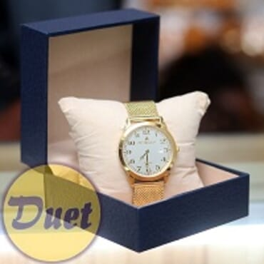 BOX St ALEXANDER SA130 WHITE FACE GOLD CHAIN WATCH