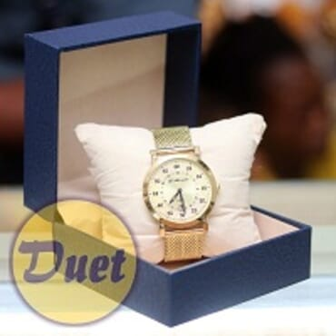 BOX St ALEXANDER SA145 GOLD FACE CHAIN WATCH