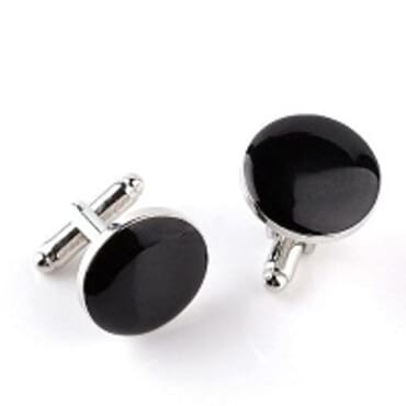 EXYLNON BLACK CUFFLINKS