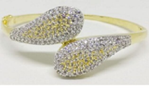 001 GOLD LUXURY STONE BANGLE