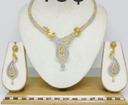 002 GOLD/SILVER LUXURY STONE SET