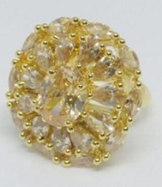 003 GOLD LUXURY STONE RING