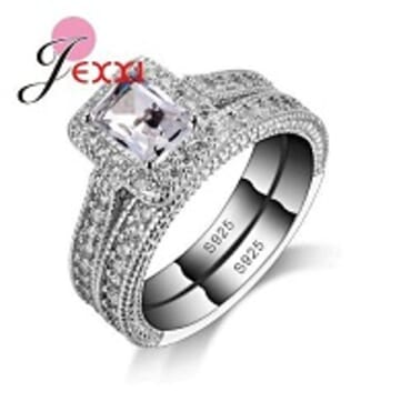 JEXXI 01 925 STERLING SILVER WEDDING RING FOR WOMEN SIZE(7-9)