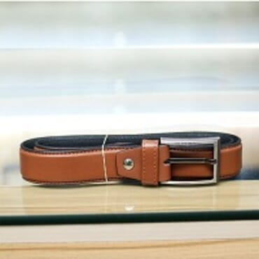 ROYAL MEN'S LEATHER BELT LIGHT BROWN (32-40)