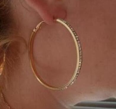 001 HOOP CRYSTAL DROP EARRING