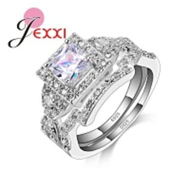 JEXXI 02925 STERLING SILVER WEDDING RING FOR WOMEN(6-9)