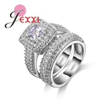 JEXXI 03925 STERLING SILVER WEDDING RING FOR WOMEN(7-9)