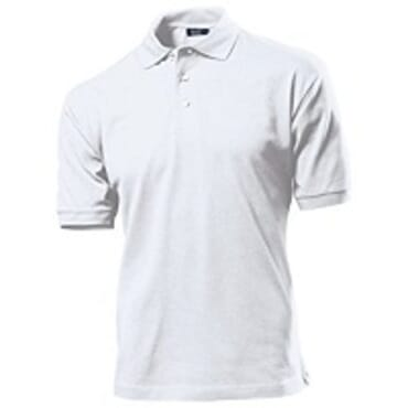 PLAIN WHITE POLO T-SHIRT M--XL