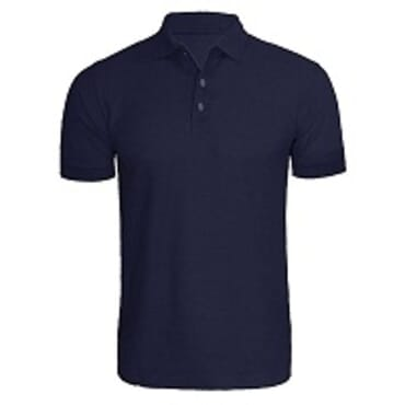 PLAIN DARK BLUE POLO T-SHIRT M--XL