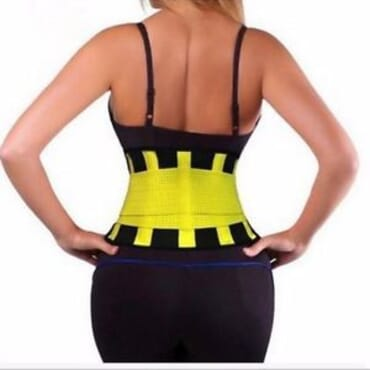 Hot Shaper Unisex Power Belt - Yellow- SIZE S