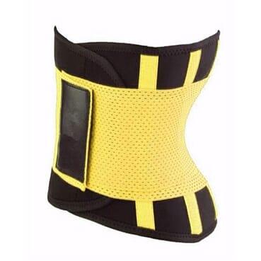 Hot Shaper Unisex Power Belt - Yellow- SIZE S