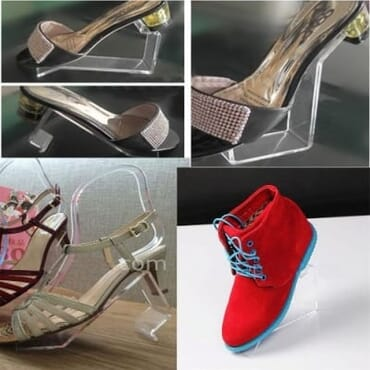Acrylic Shoe Display Stand (Set Of 10)