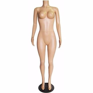 Plastic Headless Female Busty Mannequin