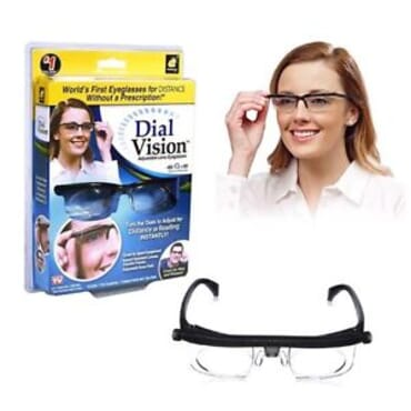 Dial Vision Adjustable Lens Eyeglasses (Black)