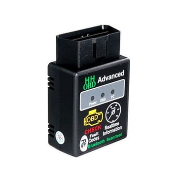 HH OBD Advanced ELM 327 Bluetooth Car Diagnostics Scan Tool - Black