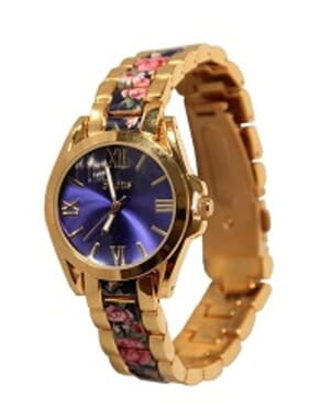 Soon Blue Flower Ladies Watch