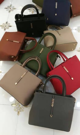 Leather Handbag - Multicolour