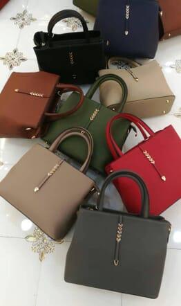 Leather Handbag - Multicolour