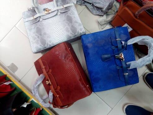 Skinned Leather Handbag - Multicolour