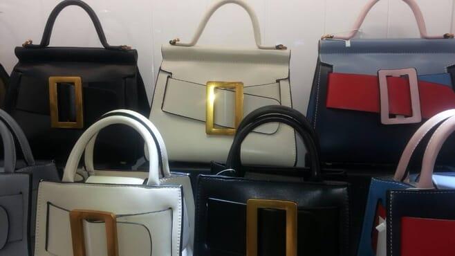 Tote Leather Handbag - Multicolour