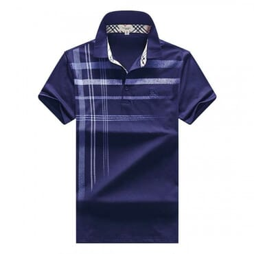 Men's Burberry Polo T-shirt With Stripes