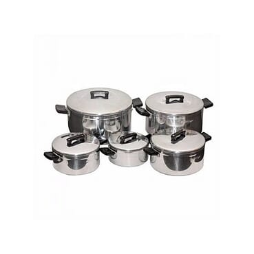 5-Piece Premium Aluminium Stock Pot Set