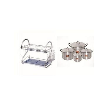Tower Plate Rack And Pot Bundle