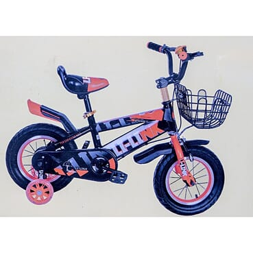 Rugged/Strong Designed Children Orange Color Bicycle (12 Inches 2-7yrs)