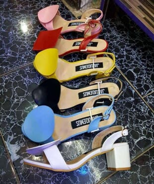 Jacquemus Mixmatch Block Heel Sandals - Multicolour