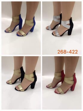 Simple Gladiator Block Heels - Multicolour