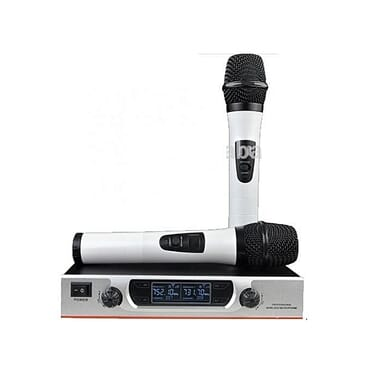 UHF Wireless Microphone System With Handheld Vocal Microphones