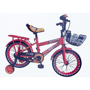Rugged Baby Cycle / Kid Bike / Children Orange Bicycle (16 Inches 6-14yrs)